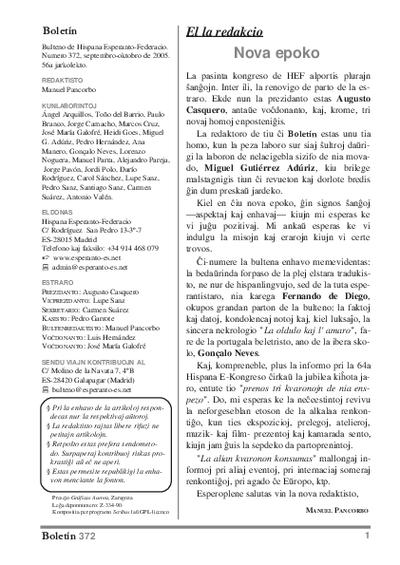 Boletín, [2005], n. 372