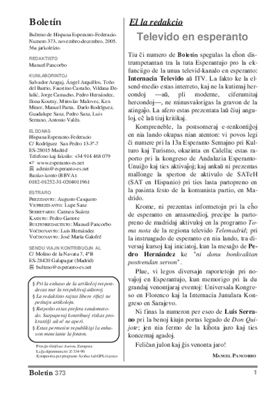 Boletín, [2005], n. 373