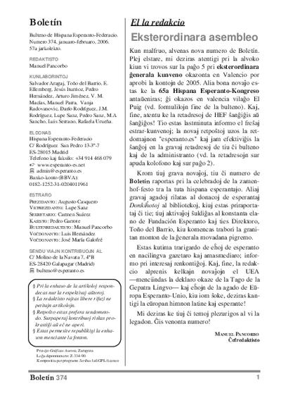 Boletín, [2006], n. 374