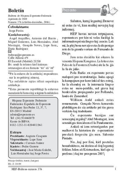 Boletín, [2006], n. 376