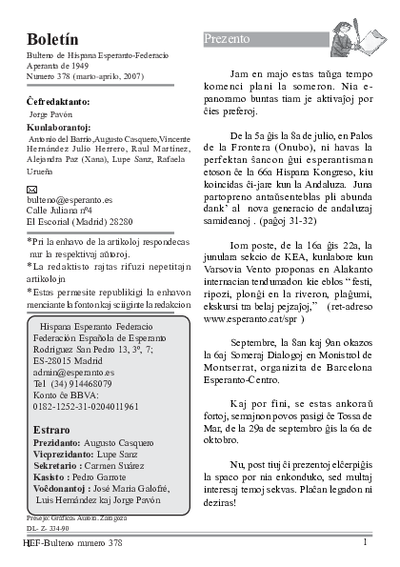 Boletín, [2007], n. 378