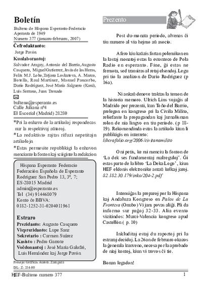 Boletín, [2007], n. 377