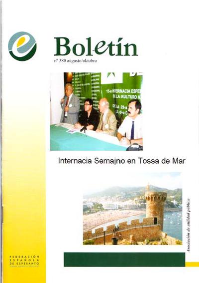 Boletín, [2007], n. 380