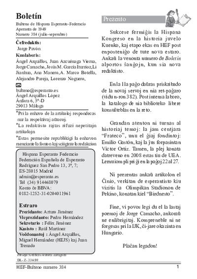 Boletín, [2008], n. 384
