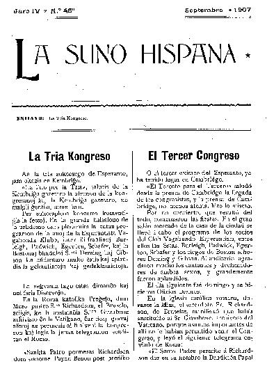 La suno hispana, [1907], n. 045, jaro IV