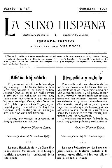 La suno hispana, [1907], n. 047, jaro IV