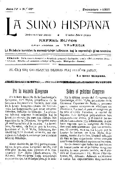La suno hispana, [1907], n. 048, jaro IV