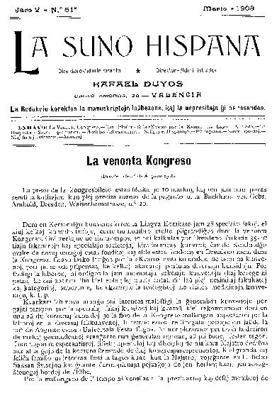 La suno hispana, [1908], n. 051, jaro V
