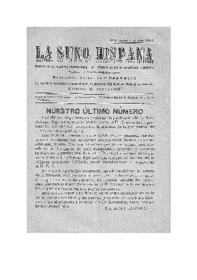 La suno hispana, [1927]. Suplemento al año 1927