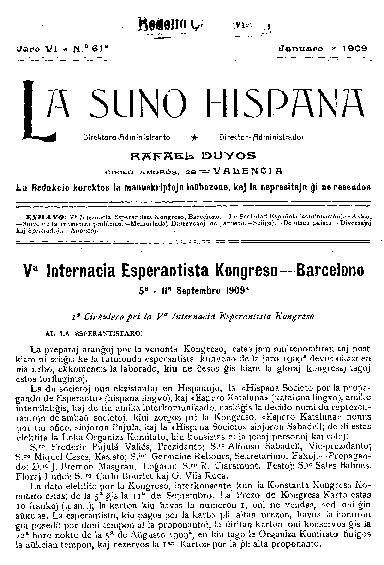 La suno hispana, [1909], n. 061, jaro VI