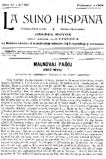 La suno hispana, [1909], n. 062, jaro VI