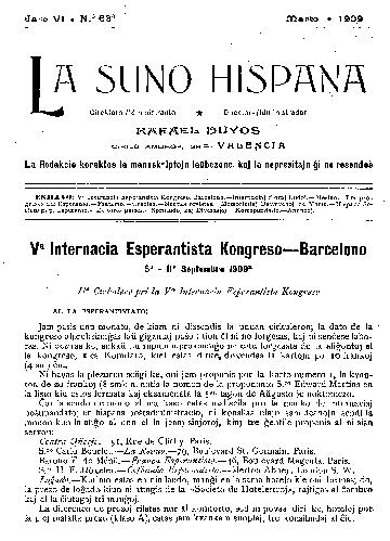 La suno hispana, [1909], n. 063, jaro VI