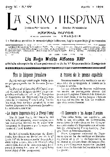 La suno hispana, [1909], n. 064, jaro VI