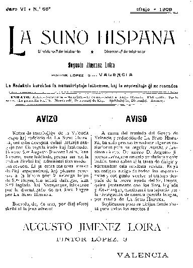 La suno hispana, [1909], n. 065, jaro VI