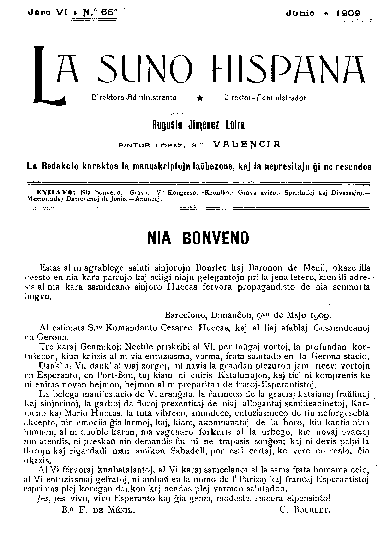 La suno hispana, [1909], n. 066, jaro VI