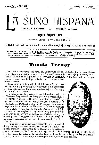 La suno hispana, [1909], n. 067, jaro VI