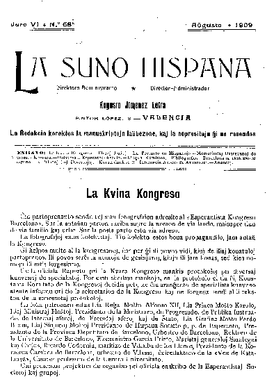 La suno hispana, [1909], n. 068, jaro VI
