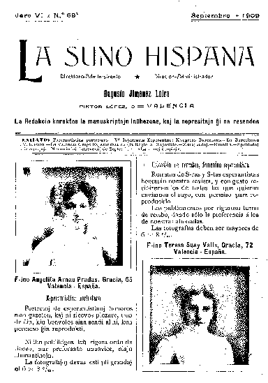 La suno hispana, [1909], n. 069, jaro VI
