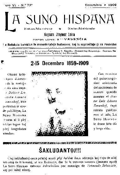 La suno hispana, [1909], n. 072, jaro VI