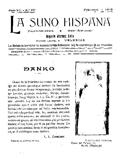 La suno hispana, [1910], n. 074, jaro VII
