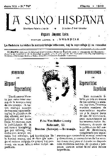 La suno hispana, [1910], n. 075, jaro VII