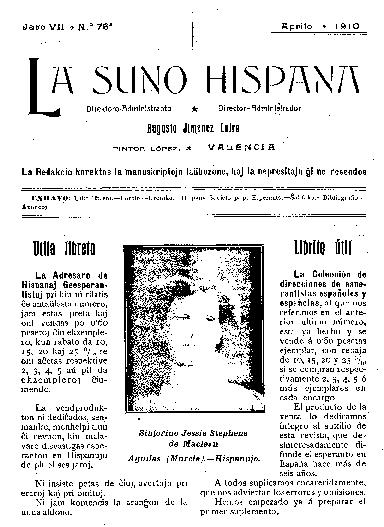La suno hispana, [1910], n. 076, jaro VII