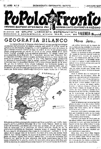 Popola Fronto, 1937, n. 05, 2a jaro