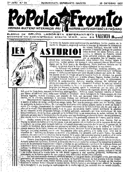Popola Fronto, 1937, n. 24, 2a jaro