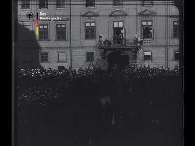 Proklamation des neuen Königreichs Polen, Warschau, den 5. November 1916 (1916)