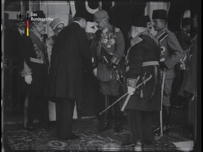 Der Kaiser bei unseren türkischen Verbündeten