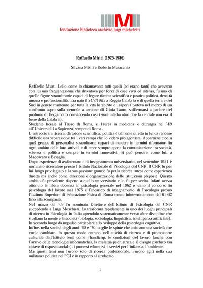 Raffaello Misiti (1925−1986)