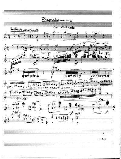 Rhapsodie Nr. 1 voor viool solo