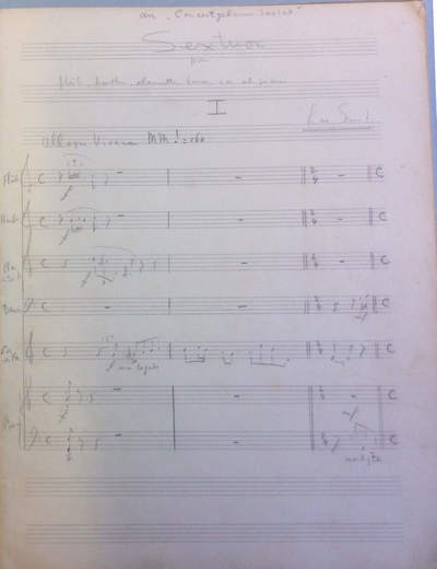Sextuor pour flûte, hautbois, clarinette, basson, cor et piano