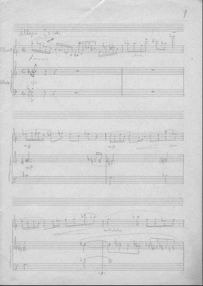 Sonate voor fluit en klavier