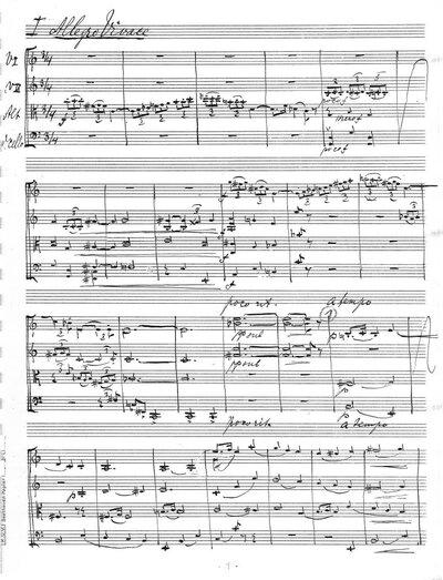 Strijkkwartet C-dur