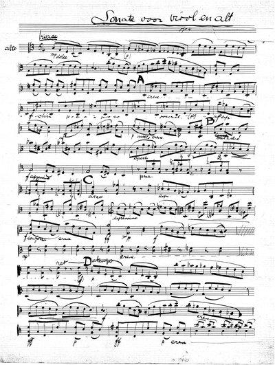 Sonate voor viool en altviool op. 4