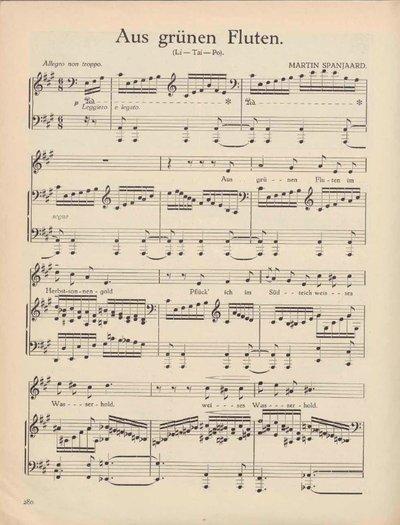 Drei Lieder für eine Singstimme mit Klavierbegleitung, nach Gedichten von Li-Tai Po