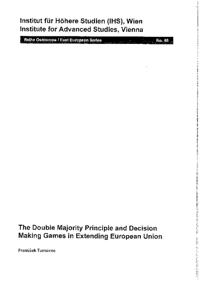 The Double Majority Principle and Decision Making Games in Extending European Union