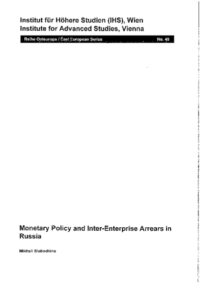 Monetary Policy and Inter-Enterprise Arrears in Russia