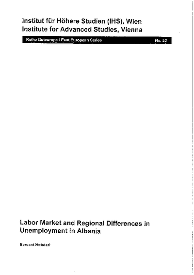 Labor Market and Regional Differences in Unemployment in Albania