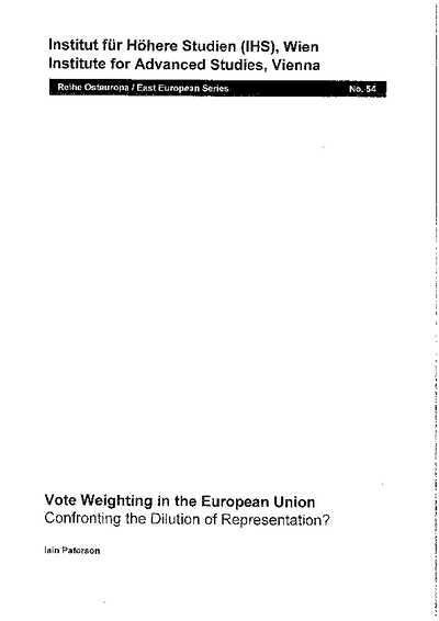 Vote Weighting in the European Union