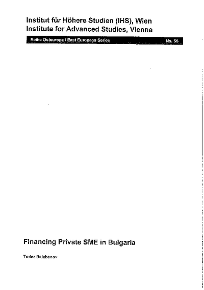 Financing Private SME in Bulgaria