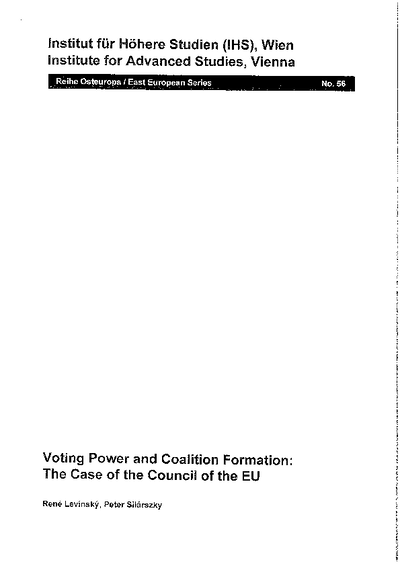Voting Power and Coalition Formation: The Case of the Council of the EU