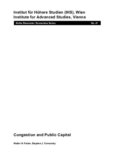 Congestion and Public Capital