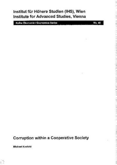 Corruption within a Cooperative Society