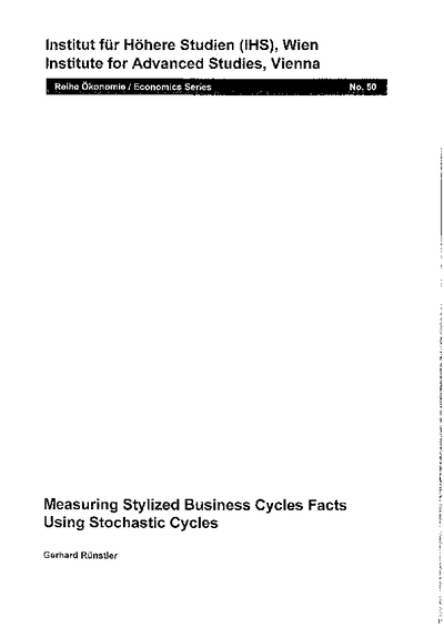 Measuring Stylized Business Cycles Facts Using Stochastic Cycles
