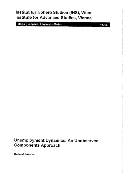 Unemployment Dynamics: An Unobserved Components Approach
