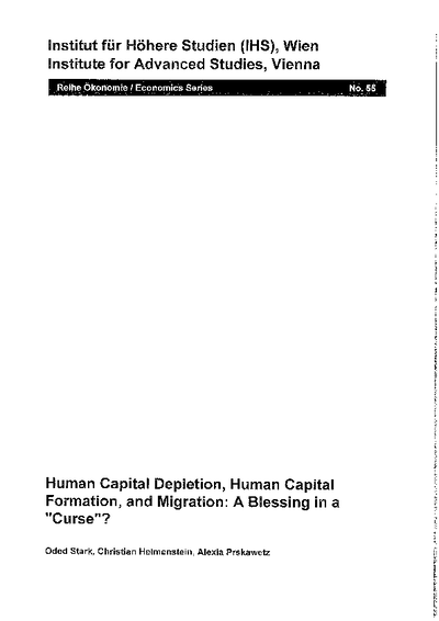 Human Capital Depletion, Human Capital Formation, and Migration: A Blessing in a Curse?