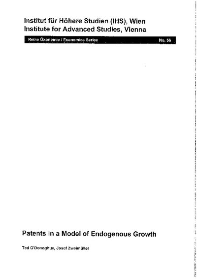 Patents in a Model of Endogenous Growth