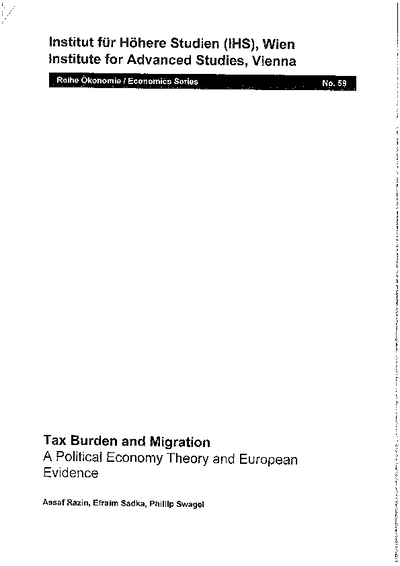 Tax Burden and Migration